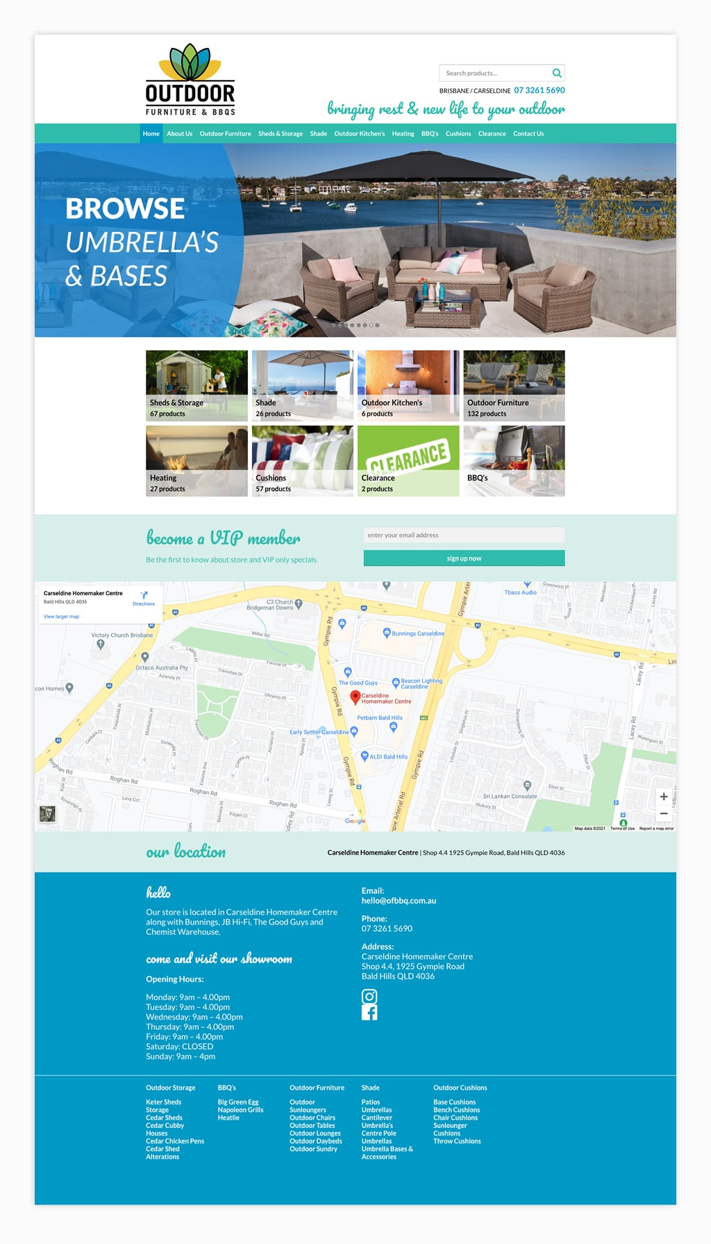 Outdoor Furniture and BBQ's Website
