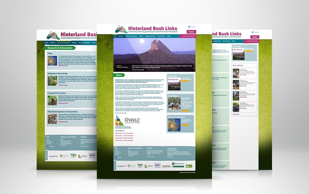 Hinterland Bush Links Website
