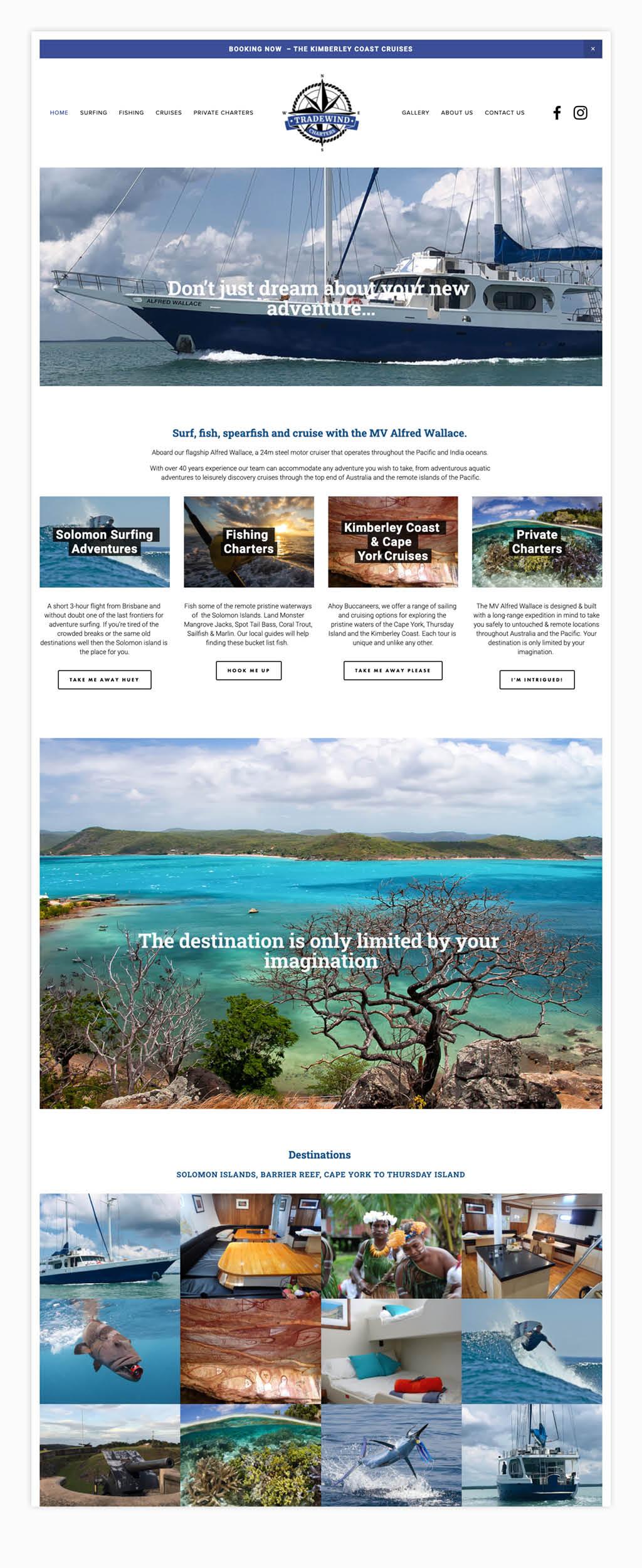 Tradewind Charters Website